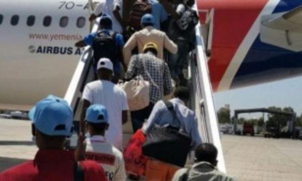 إجلاء 79 مهاجراً إثيوبياً من صنعاء إلى أديس أبابا